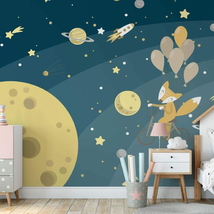Photo wallpapers Space Fox  nursery decorations  | Buy it online